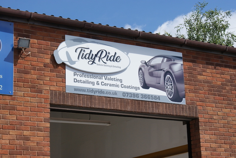 Dibond Car Valet Sign - SignMakers Newton Abbot & Teignmouth