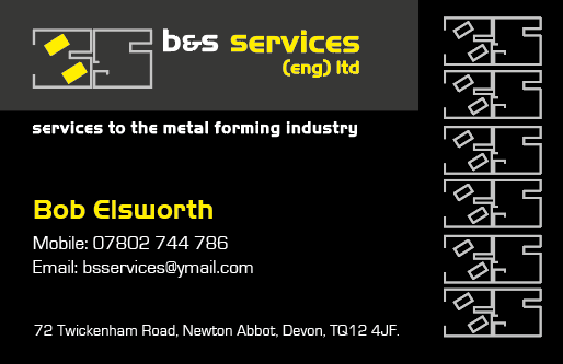 Black and yellow engineers business card Torquay Printing